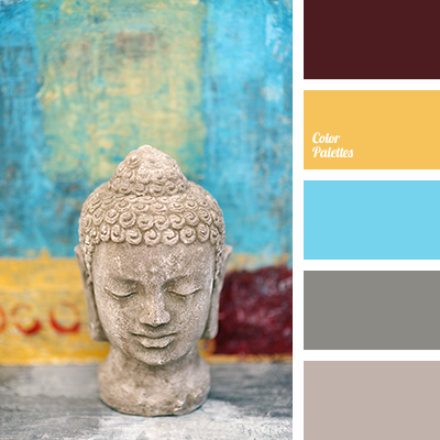 Brown and yellow color palette ideas - Yellow and blue paint scheme ...