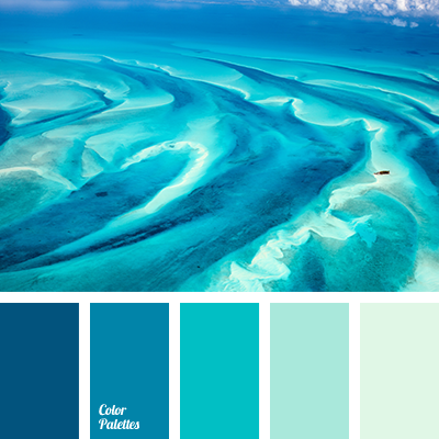 Color of sea water color palette ideas for Ocean blue color combinations