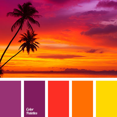 colors of sunset | Color Palette Ideas