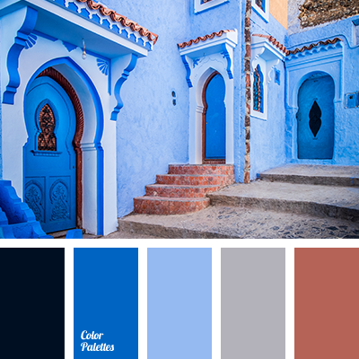 Colors In Moroccan Style. Brown And Dark Blue