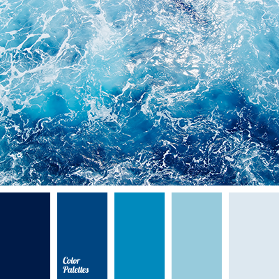monochrome dark blue color palette