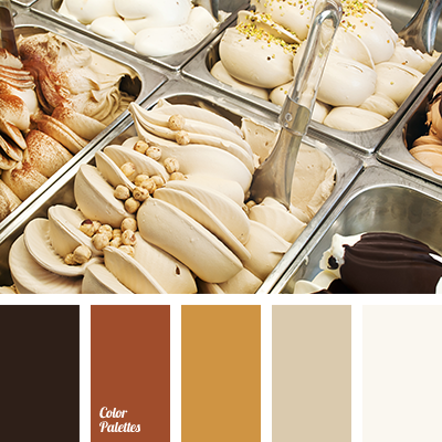 monochrome brown palette