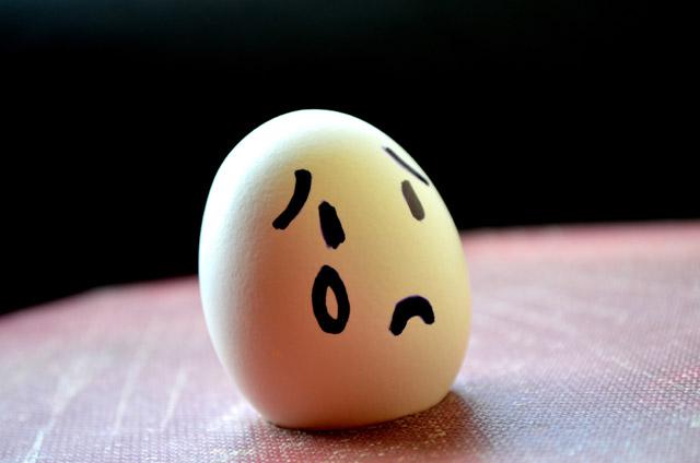 sad emotion egg