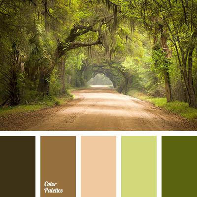 brown green shades