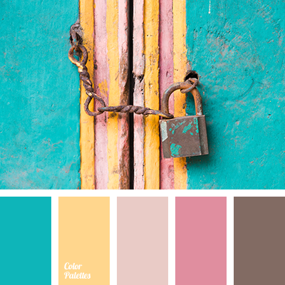 Turquoise color palette ideas - Which color matches with pink ...
