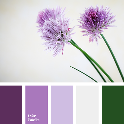 emerald green and lilac