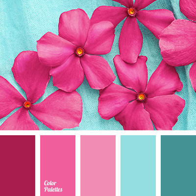Turquoise And Pink Color Palette