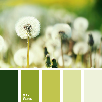 monochrome green color palette