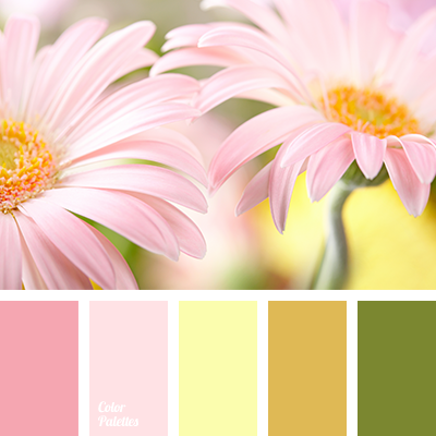 Pale Yellow Color Palette Ideas: good color combination for pink