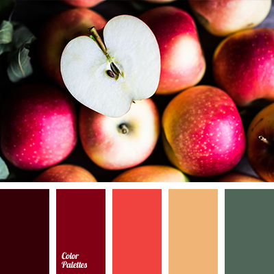 red apple color