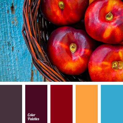 Dark red color palette ideas for Blue gray paint palette