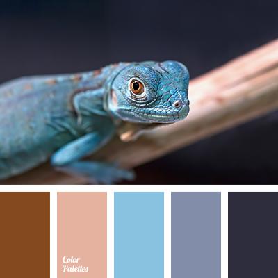 bright blue color