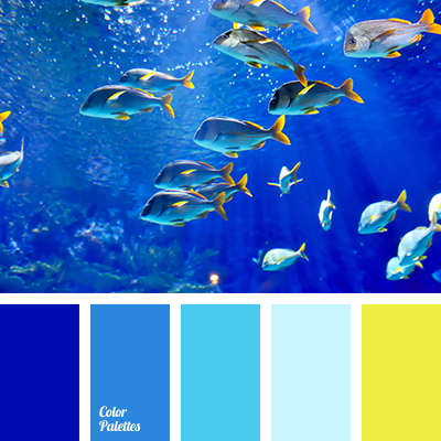Color Palette 3282 Acid Yellow Blue