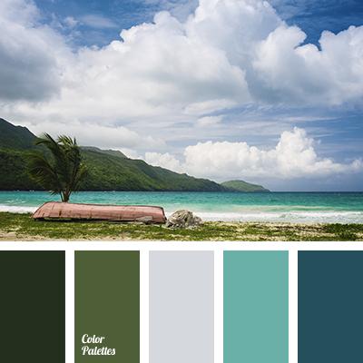 Color of blue sea