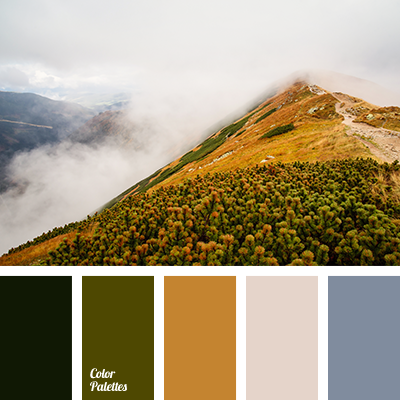 Fog color in the mountains