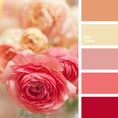 Peach and beige