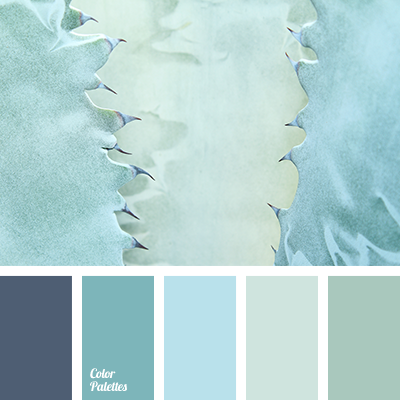 The color of the blue sea