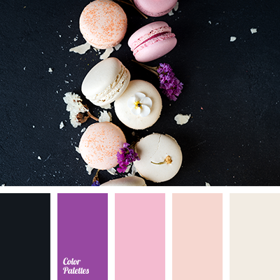 Color of vanilla macaroons