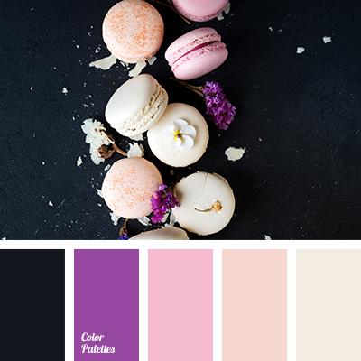 Color of vanilla macaroons