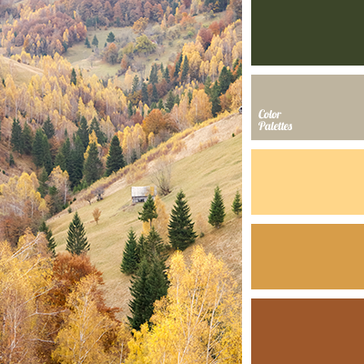 Color palette of autumn