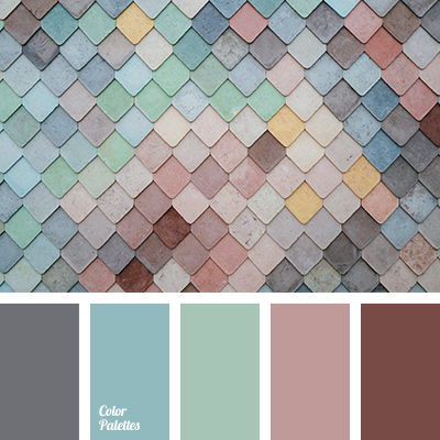 Cold shades of pastel colors