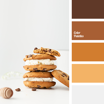 Color of cookies with chocolate chips
