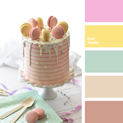 Color palette for easter table decor