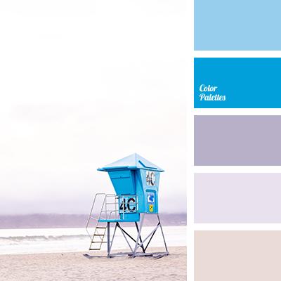Pastel shades of blue
